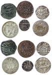 Mughal Empire, Muhammad Shah (1719- 48), Rupee, Ujjain, AH114-, AE Dam, Khambayat (KM A430.13, 436.6