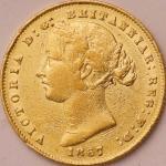 オーストラリア (Australia) ヴィクトリア女王像 1ソブリン金貨 1867年(SY) KM4 / Victoria 1 Sovereign Gold