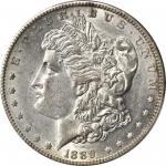 1889-CC Morgan Silver Dollar. AU-55+ (PCGS). CAC.