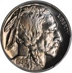 1936 Buffalo Nickel. Satin Proof-67 (PCGS). CAC.