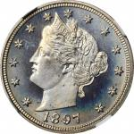1897 Liberty Head Nickel. Proof-67 Cameo (NGC).