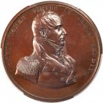 1812 (Circa 1875) Captain Jacob Jones. Bronzed Copper. 65 mm. By William Furst. Specimen-66 (PCGS).