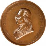 1841 John Tyler Indian Peace Medal. First Size. Second Reverse. Bronzed Copper. 75.6 mm, rims 6.5 to