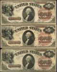 Lot of (3) Fr. 29 & 30. 1880 $1 Legal Tender Notes. Fine to Very Fine.
