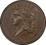 1793 Liberty Cap Half Cent. Cohen-3. Rarity-3. Mint State-64 BN (PCGS).