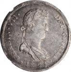 MEXICO. War of Independence. 8 Reales, 1821-Ga FS. Guadalajara Mint. Ferdinand VII. NGC AU-50.