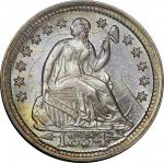1854 Liberty Seated Half Dime. Arrows. MS-65 (PCGS). CAC.