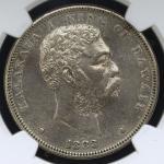 "HAWAII ハワイ Dollar(Akahi Dala) 1883 NGC-XF Details ""Obv Scratchd"" 表面スクラッチ VF+"