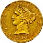 1846 Liberty Head Half Eagle. Large Date. AU Details--Improperly Cleaned (NGC).