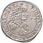 Foreign coins;GERMANIA Sachsen-Weimar - Johann Ernst (1662-1683) Due terzi di Tallero 1677 - Dav. 89