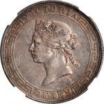 HONG KONG. Dollar, 1867. NGC EF-45.
