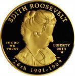 2013-W First Spouse Gold Bullion Coin. Edith Roosevelt. Proof-69 Deep Cameo (PCGS).