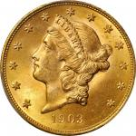 1903 Liberty Head Double Eagle. MS-66 (PCGS). Gold Shield Holder.