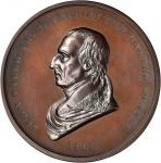 1841 John Tyler Indian Peace Medal. First Size. Bronze. 76 mm, 6.2 to 6.5 mm thick. Julian IP-21. Ch