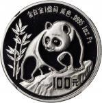 1990年熊猫纪念铂币1盎司 NGC PF 68