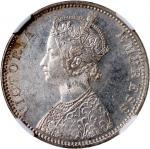 1901-B印度卢比银币,NGC MS63