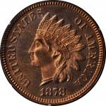1878 Indian Cent. Proof-65 RD (PCGS). OGH--First Generation.