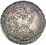"""USA Amérique-Canada (colonies françaises), Louis XV (1715-1774). Jeton """"SEDEM NON ANIMUM MUTANT"""" non"""