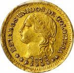 COLOMBIA. 1872 Peso. Bogotá mint. Restrepo 322.2. AU-58 (PCGS).
