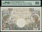 Banque de France, Commerce et Industrie, consecutive 1000 francs (7), 6th July 1944, serial numbers