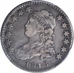 1818 Capped Bust Quarter. B-9. Rarity-5-. VF-30 (PCGS).