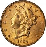 1904 Liberty Head Double Eagle. MS-61 (NGC).