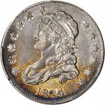 1824/2 Capped Bust Quarter. B-1. Rarity-3. EF-40 (PCGS).