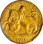 1915-S Panama-Pacific Exposition Quarter Eagle. MS-66 (PCGS). CAC.