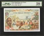 CHAD. Republique du Chad. 5000 Francs, 1.1.1980. P-8. PMG Choice About Uncirculated 58 EPQ.