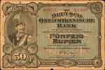 GERMAN EAST AFRICA. Deutsch-Ostafrikanische Bank. 50 Rupien, 1905. P-3B. Choice Fine.