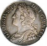 1741年1先令。乔治二世。 GREAT BRITAIN. Shilling, 1741. London Mint. George II. PCGS AU-50.