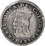 COLOMBIA. Cundinamarca. 1821-JF 8 Reales. Bogotá mint. Restrepo 157.3. VF-25 (PCGS).
