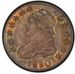 1820 Capped Bust Quarter. Browning-3. Medium 0. Rarity-3. Mint State-66 (PCGS).PCGS Population: 1, n