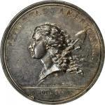 1781年自由女神带杆版银章 NGC MS 62