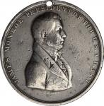 1817 James Monroe Indian Peace Medal. Silver. Second Size. Julian IP-9, Prucha-41. Very Fine.