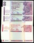 渣打银行一组46枚,包括1997年50元连号6枚,编号A097509-511、1997年100元连号40枚,编号A908361-400,面值4300元,UNC