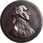 1797 (ca. 1859) Washington Sansom Medal. U.S. Mint Dies. Red Bronze. 40.7 mm. Musante GW-59, Baker-7