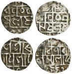 Cooch Behar, Prana Narayan (1633-65), Half-Tankas (2), 4.84, 3.68g, Sk.1554, as previous lots but no