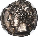 ITALY. Etruria. Populonia. AR 10 Asses (4.19 gms), ca. 3rd Century B.C. NGC Ch AU*, Strike: 4/5 Surf