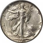 1921-D Walking Liberty Half Dollar. MS-62 (PCGS).