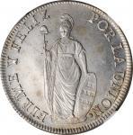 PERU. 8 Reales, 1832-LIMA MM. Lima Mint. NGC MS-62.