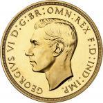 GRANDE-BRETAGNE Georges VI (1936-1952). 5 livres (5 pounds), Flan bruni (PROOF) 1937, Londres.