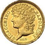 Monete e Medaglie di Zecche Italiane, Napoli.  Gioacchino Murat (1808-1815).. 20 lire 1813. P/R 10.
