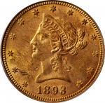1893 Liberty Head Eagle. MS-60 (PCGS). OGH.