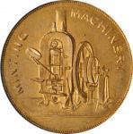 1922年英国伯明翰泰勒和查伦有限公司铸币机械黄铜广告代用币。GREAT BRITAIN. Birmingham. Taylor & Challen, Ltd. PCGS MS-63 Gold Shi