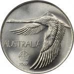AUSTRALIA. Dollar, 1967. PCGS MS-68.
