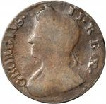 1741 Contemporary counterfeit halfpenny. George II English type. Choice About Uncirculated. 101.4 gr