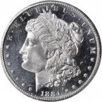 1884-CC Morgan Silver Dollar. MS-65+ DMPL (PCGS).