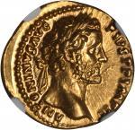ANTONINUS PIUS, A.D. 138-161. AV Aureus (7.00 gms), Rome Mint, ca. A.D. 155-156. NGC Ch MS, Strike: