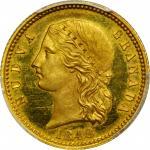 1848哥伦比亚5比索金币 PCGS SP 64
